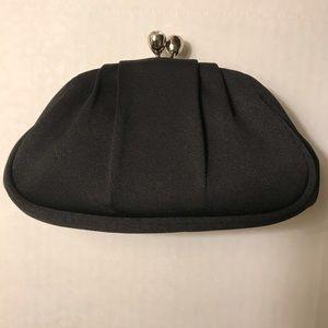 Express Black Satin Jeweled Purse Clutch Wallet